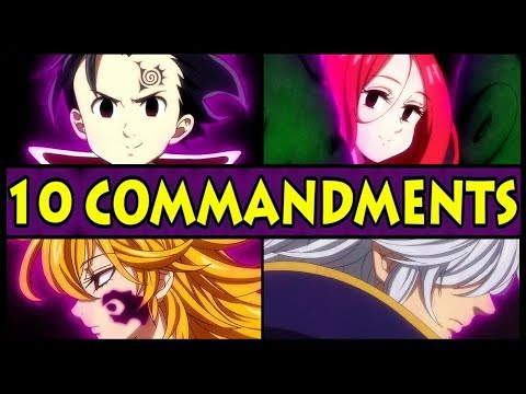 All 10 Commandments and their Powers Explained! (Seven Deadly Sins / Nanatsu no Taizai S2 Season 2)