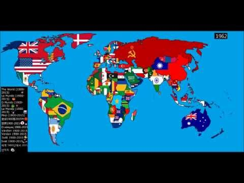 World: Timeline of National Flags (Part 1)