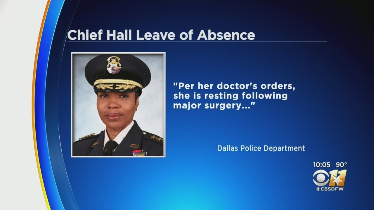 CHIEF RENEE HALL HAD MAJOR SURGERY