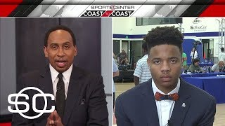 Stephen A. Smith Interviews 76ers