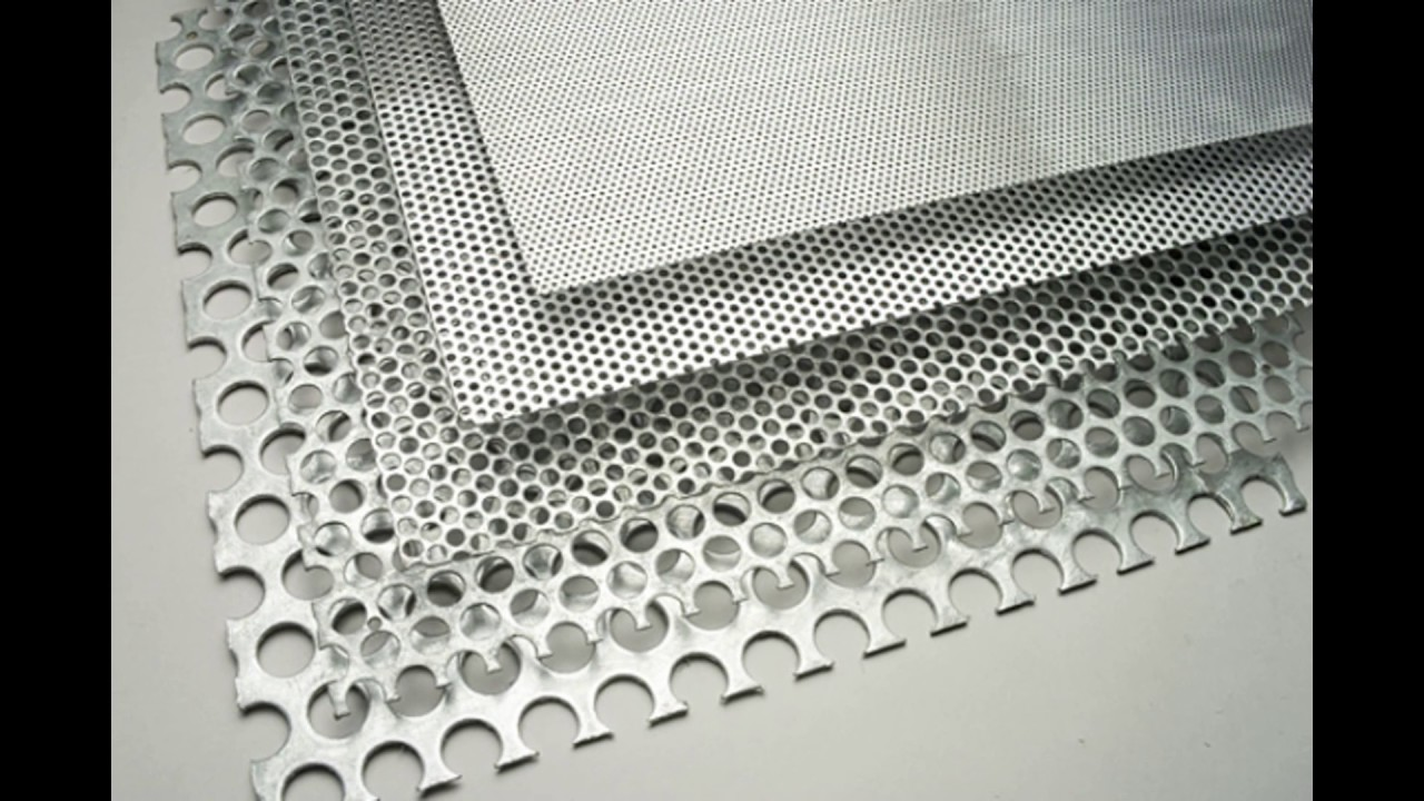 Perforated Aluminum Panels : Perforated square hole mild steel pitch metal