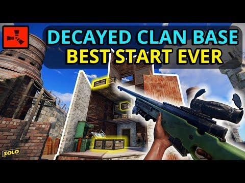 RICH RUST DECAYED CLAN BASE Gives An INSANELY LUCKY START! - Rust (1/4) thumbnail