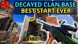 RICH RUST DECAYED CLAN BASE Gives An INSANELY LUCKY START! - Rust (1/4)