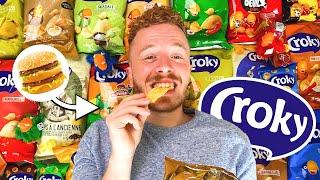 Alle CROKY CHIPS smaken PROBEREN! 😍 | Vet Gezellig: Eten