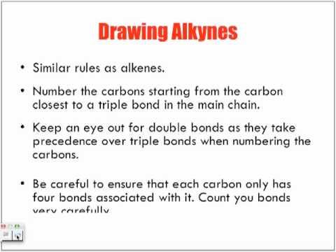 Naming Amp Drawing Alkyne Hydrocarbons