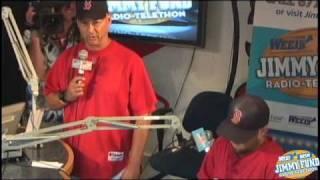 Terry Francona & Dustin Pedroia WEEI Jimmy Fund Radio-Telethon 2010