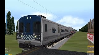 OpenBVE HD: Metro-North M7/M8 EMU Hybrid Train On the New Haven Line New Canaan Branch 4/8/15