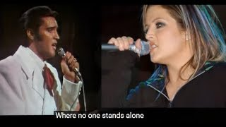 Where No One Stands Alone - Elvis Presley with Lisa Marie Presley