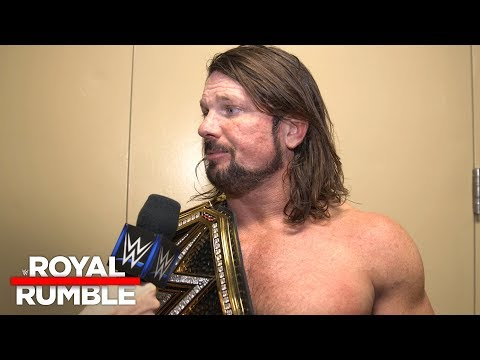 AJ Styles is ready for any challengers after Royal Rumble: Exclusive, Jan. 28, 2018