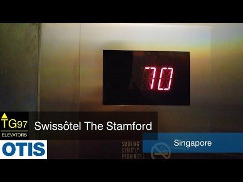 [1400th Video, 4K] AMAZING OTIS Traction Lifts - Swissôtel The Stamford, Singapore (Express)