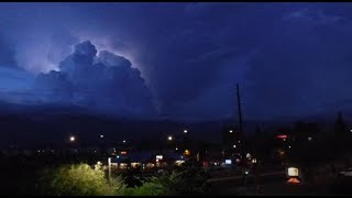 Two Lightening Storms, No thunder, Vehicle Noise, Traffic, Audio and Eye Stimulate