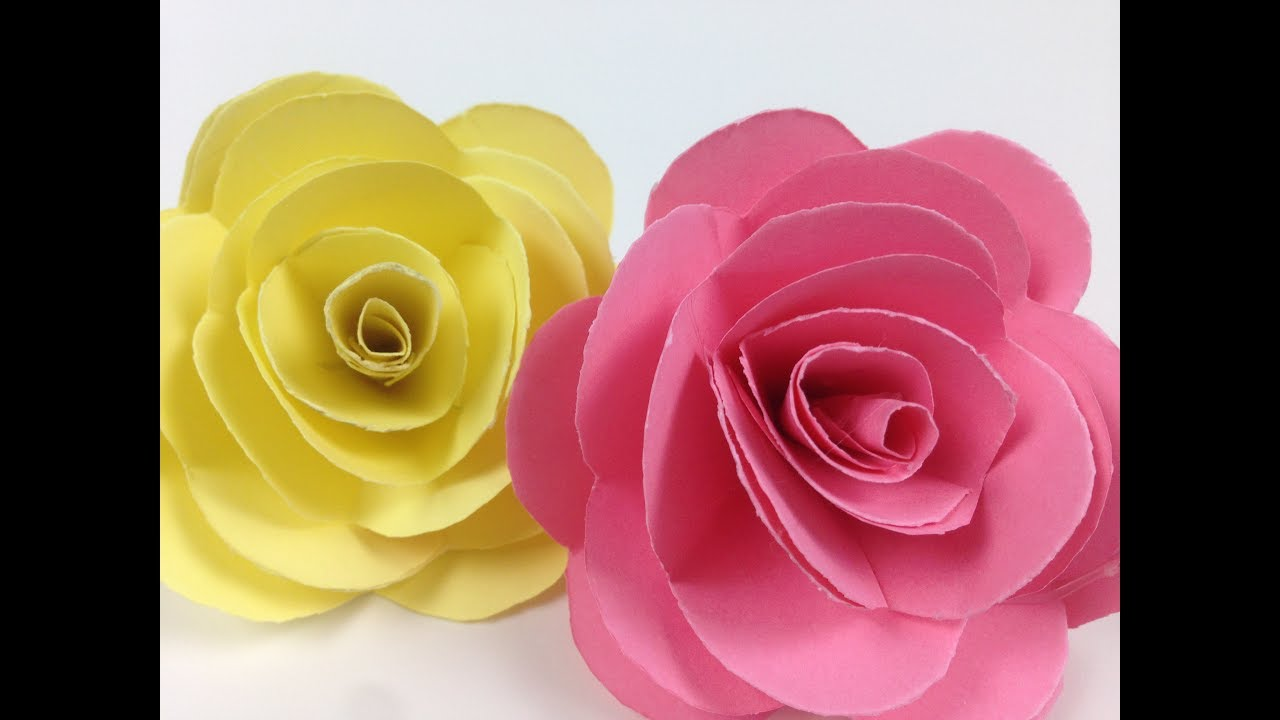How To Make Paper Roses Flower Easily Easycrafts Diy Paper