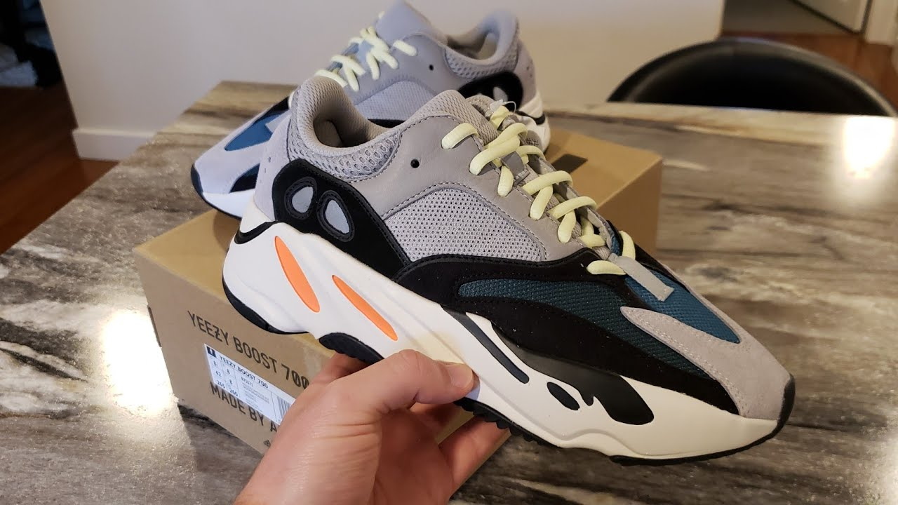new product 993f4 afce5 YEEZY BOOST 700 WAVE RUNNER UNBOXING 2018