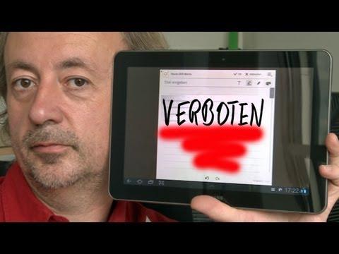 Samsung Galaxy Tab 10.1 - Der verbotene Tablet-Computer im Test