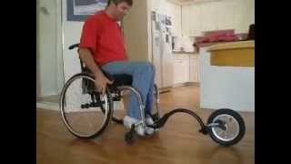 FreeWheel Wheelchair Attachment Instal and stow video