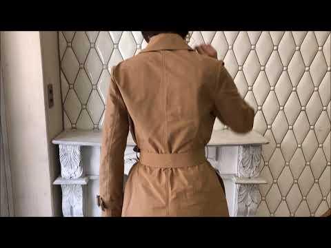30代向けウォータープルーフトレンチコートの動画!結婚式ワンピースならPourVous