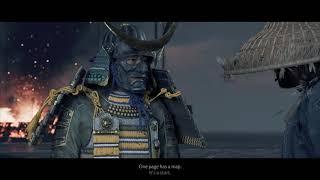 Ghost of Tsushima - The Tale of Ryuzo: Jin Sakai Gives Ryuzo Mongol Battle Plans Cutscene (2020)