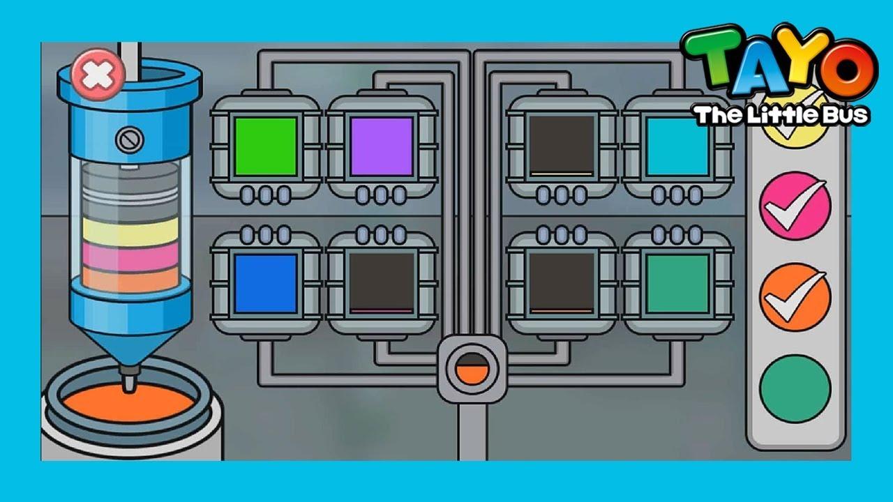 Tayo Bermain L Membersihkan Mesin L Tayo Garage Game L Tayo Bus Kecil Youtube