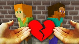 Download Video REALISTIC MINECRAFT - STEVE BREAKS UP WITH ALEX! MP3 3GP MP4