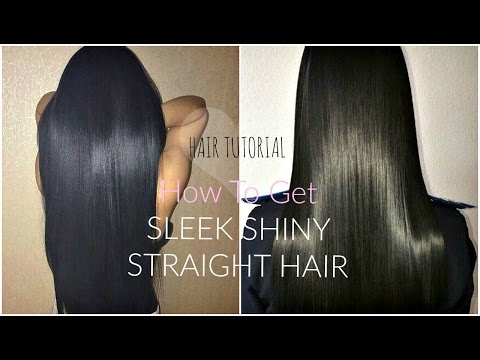 HOW TO GET STRAIGHT SLEEK HAIR | Perfectly FRIZZ-FREE Tutorial | + Best Way To Straighten Curly Hair