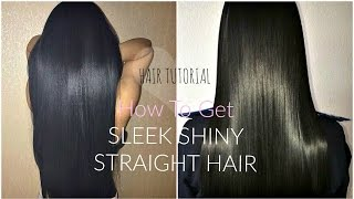 HOW TO GET STRĄIGHT SLEEK HAIR | Perfectly FRIZZ-FREE Tutorial | + Best Way To Straighten Curly Hair