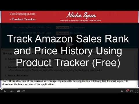 How To Track Amazon Sale Rank and Price History