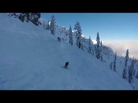 Alpental Backcountry Skiing Washington State Cascade Mountains with Jim 12-23-2017