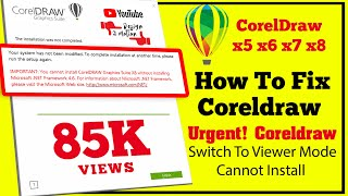 Corel Draw X8 Not Working –Disable Save,Export,Printer- Urgent Coreldraw Has Switched To Viewer Mode