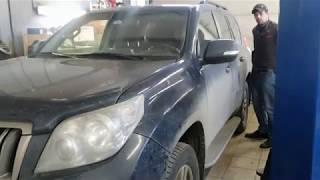 Ремонт шаровой опоры нижнего рычага на автомобиле Toyota Land Cruiser Prado 150