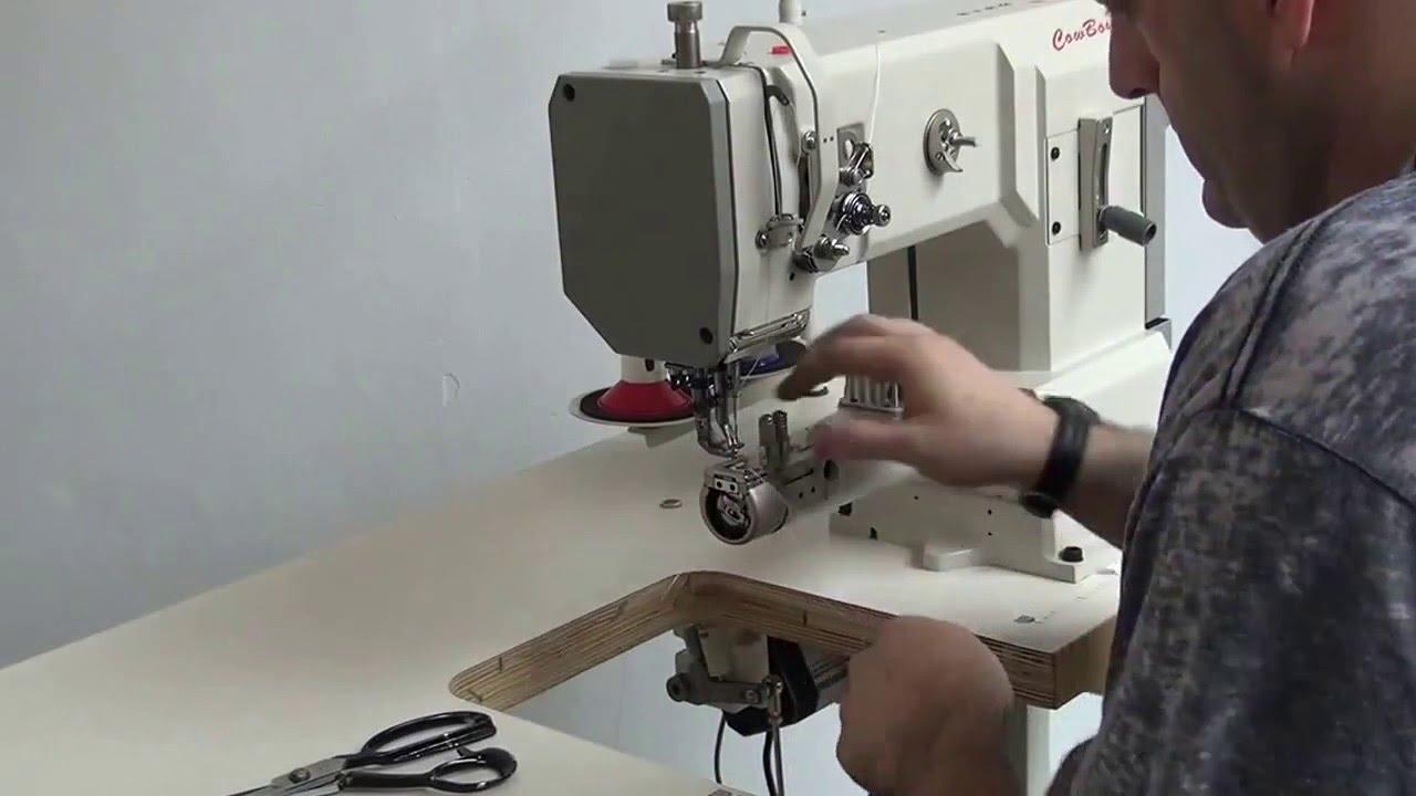 Máquina de coser de triple arrastre Cowboy 7335 - YouTube