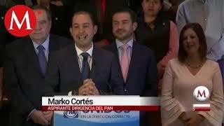Marko Cortés entrega su registro para la dirigencia del PAN