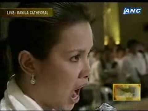 Cory Aquino Funeral: LEA SALONGA sings BAYAN KO