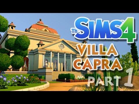 The Sims 4 House Building: Villa Capra - Part 1 - FACADE! (Real Time)