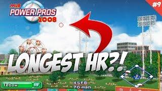 LONGEST HR EVER! Dream Big MLB Power Pros 2008 Success Mode Tim Tebow Ep 10