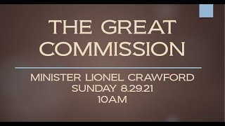THE GREAT COMMISSION - 8.22.21