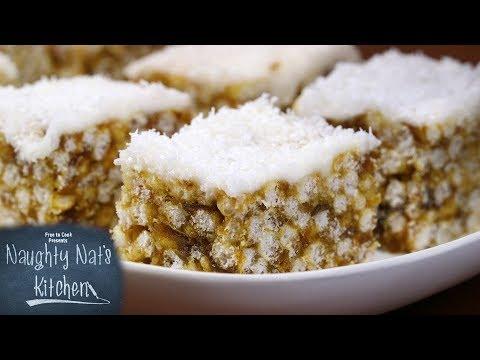 Lemon Date Slice  - Naughty Nat's Kitchen