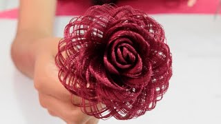 Como hacer una rosa de tela // Dia de las madres // Fabric Flowers Roses- Loveluzlop