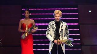 "Han Goeun, Lee Jongsuk awarded the ""Korea Model Star Award"" at the 2014 Asia Model Awards"