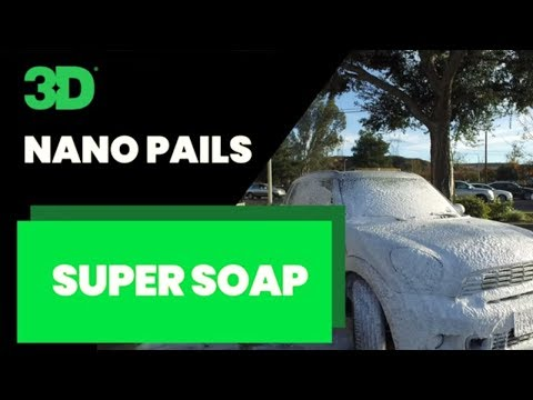 3D Products NANO PAIL SUPER SOAP car wash soap with foamer sprayer
