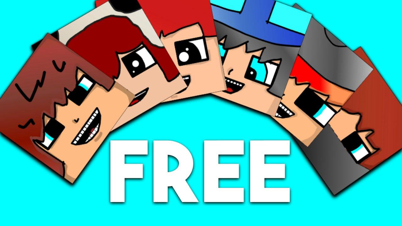 free minecraft cartoon heads template youtube