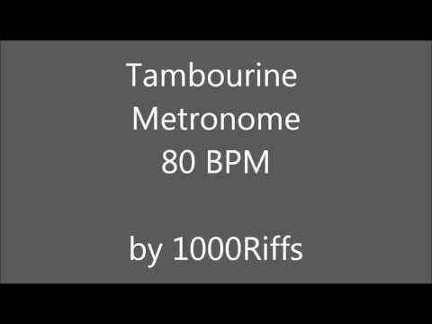 Tambourine Metronome 80 BPM - Beats Per Minute