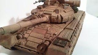 СБОРНЫЕ МОДЕЛИ Покраска модели танка Т-80UDK от Skif / Painting models of the T-80UDK