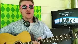 Passion Pit, Galantis - I Found U // easy guitar tutorial beginner lesson + tabs,  chords