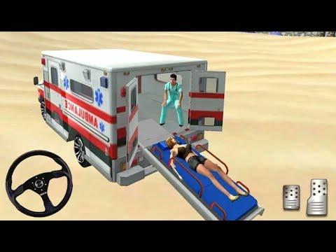 City Ambulance Driver Simulator  Summer Coast Guard: Beach Bay Games Android Gameplay #1  