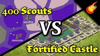 400 SCOUTS vs FORTIFIED CASTLE - Stronghold Kingdoms