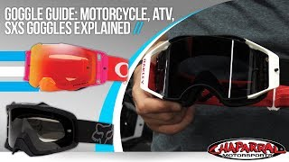 Goggle Guide: Motorcycle, ATV, SxS Goggles Explained
