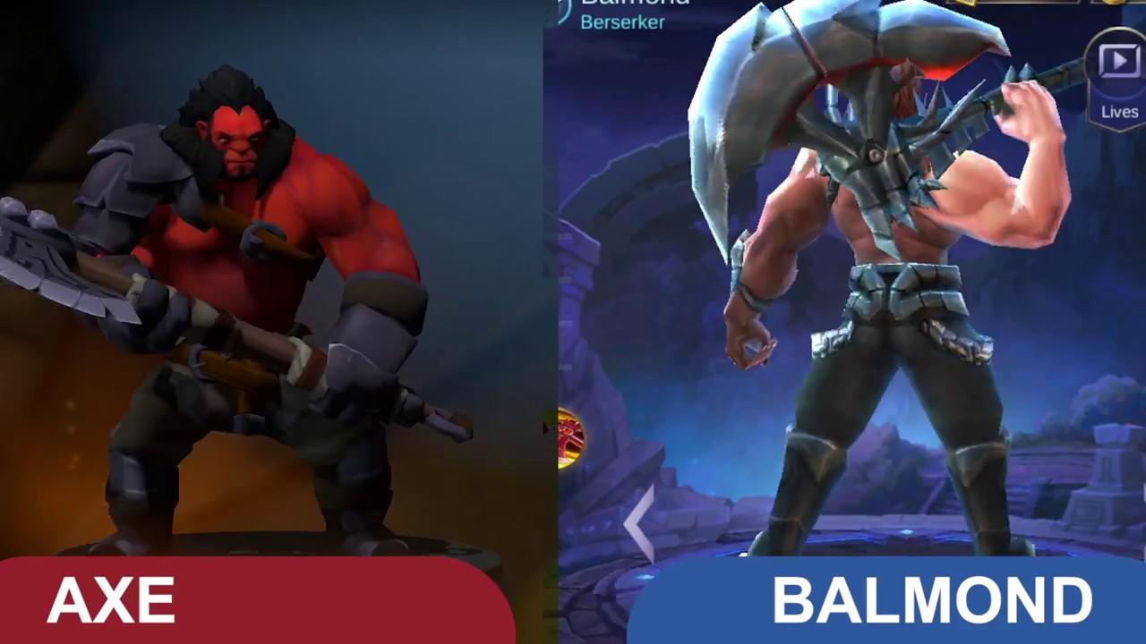 dota vs mobile legend ml comparison : hero and skills