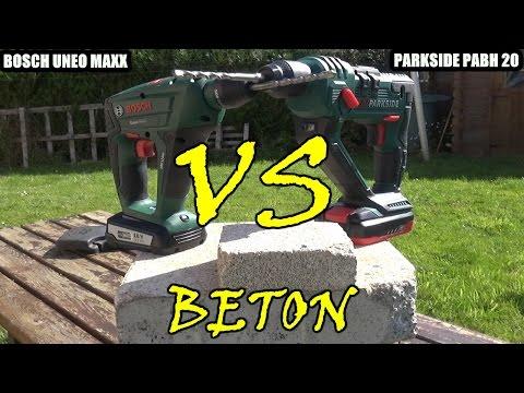 lidl parkside pabh 20v versus bosch uneo maxx 18v versus test beton videobowbow. Black Bedroom Furniture Sets. Home Design Ideas