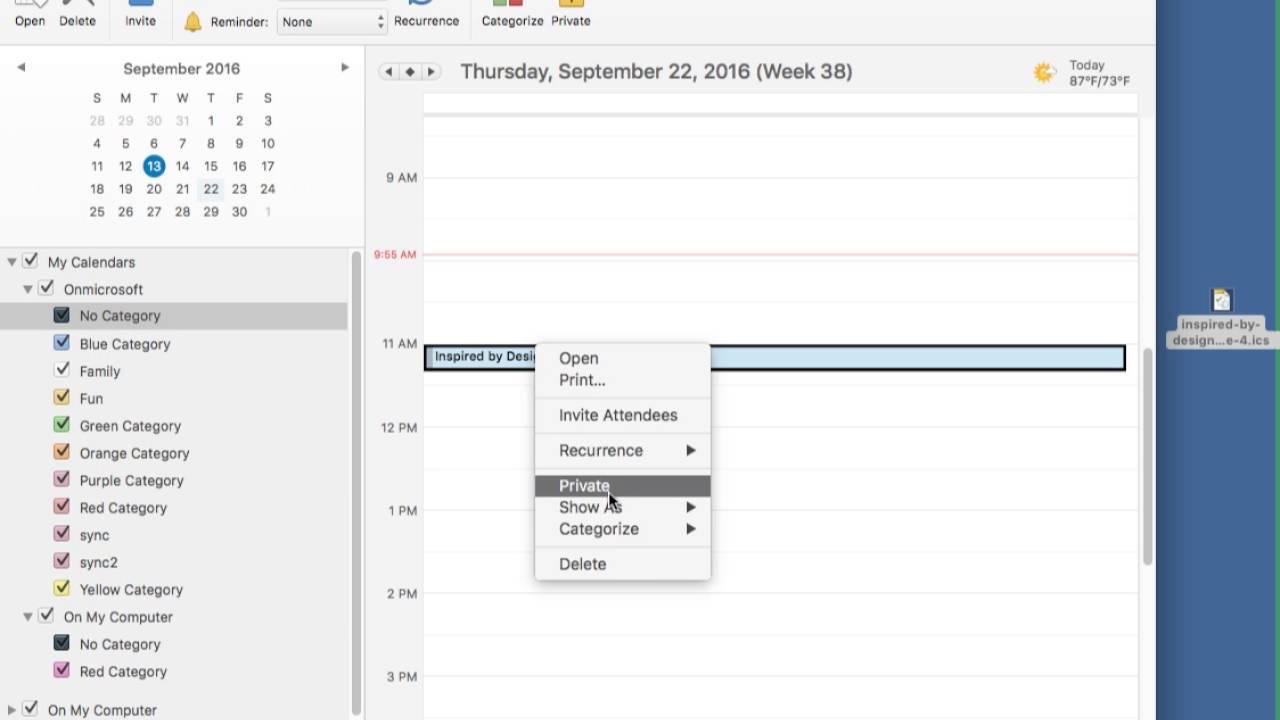 Solving multiple calendars in mac outlook ics invitation files solving multiple calendars in mac outlook ics invitation files stopboris Images