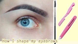 Коррекция БРОВЕЙ | Как я придаю ФОРМУ своим бровям | Как ОТРАСТИТЬ брови | Eyebrow Routine